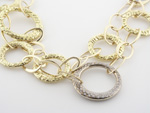 NEC1071 18k White & Yellow Gold Diamond Necklace