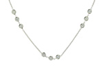 NEC1095 18k White Gold Diamond Necklace
